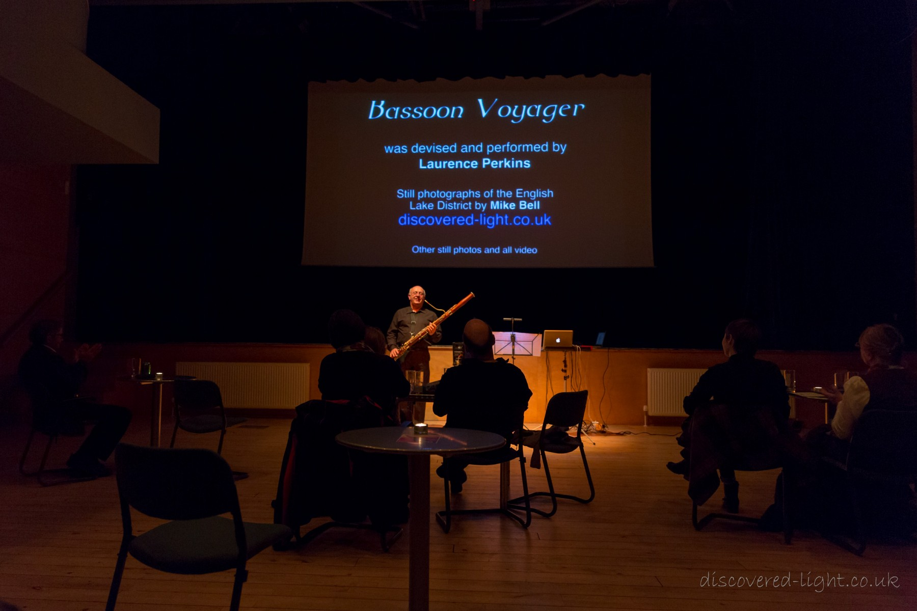 A performance of Bassoon Voyager at the Birnam Institute in Perthshire, Scotland. (Photo by Mike Bell)
