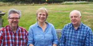 Tutors Jan Willem, Philippa and Laurence