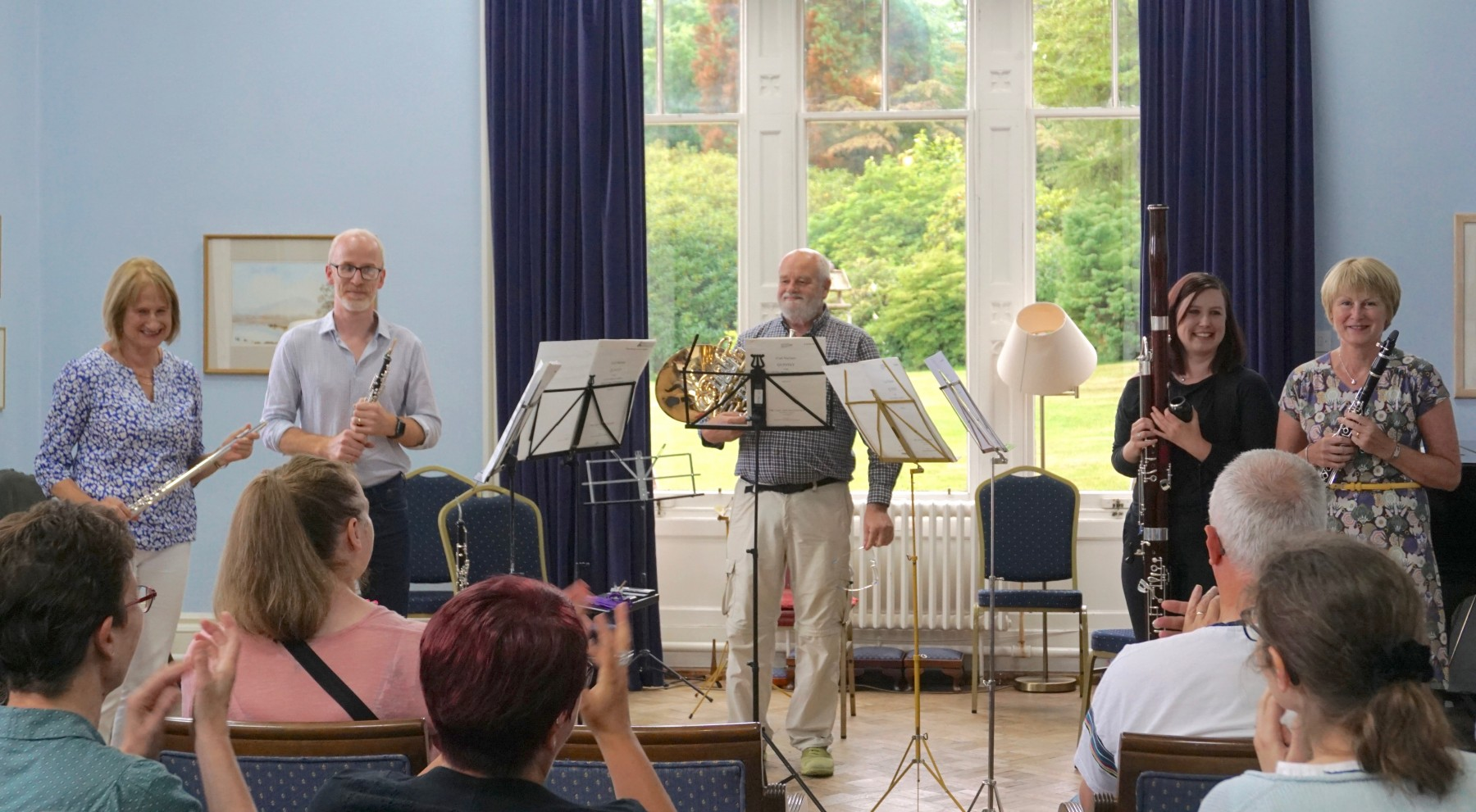 Quintet performing in the final concert