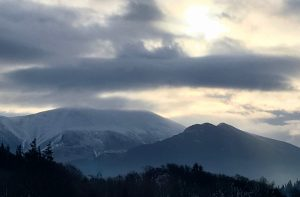 Early Spring sky over the Cumbrian fells