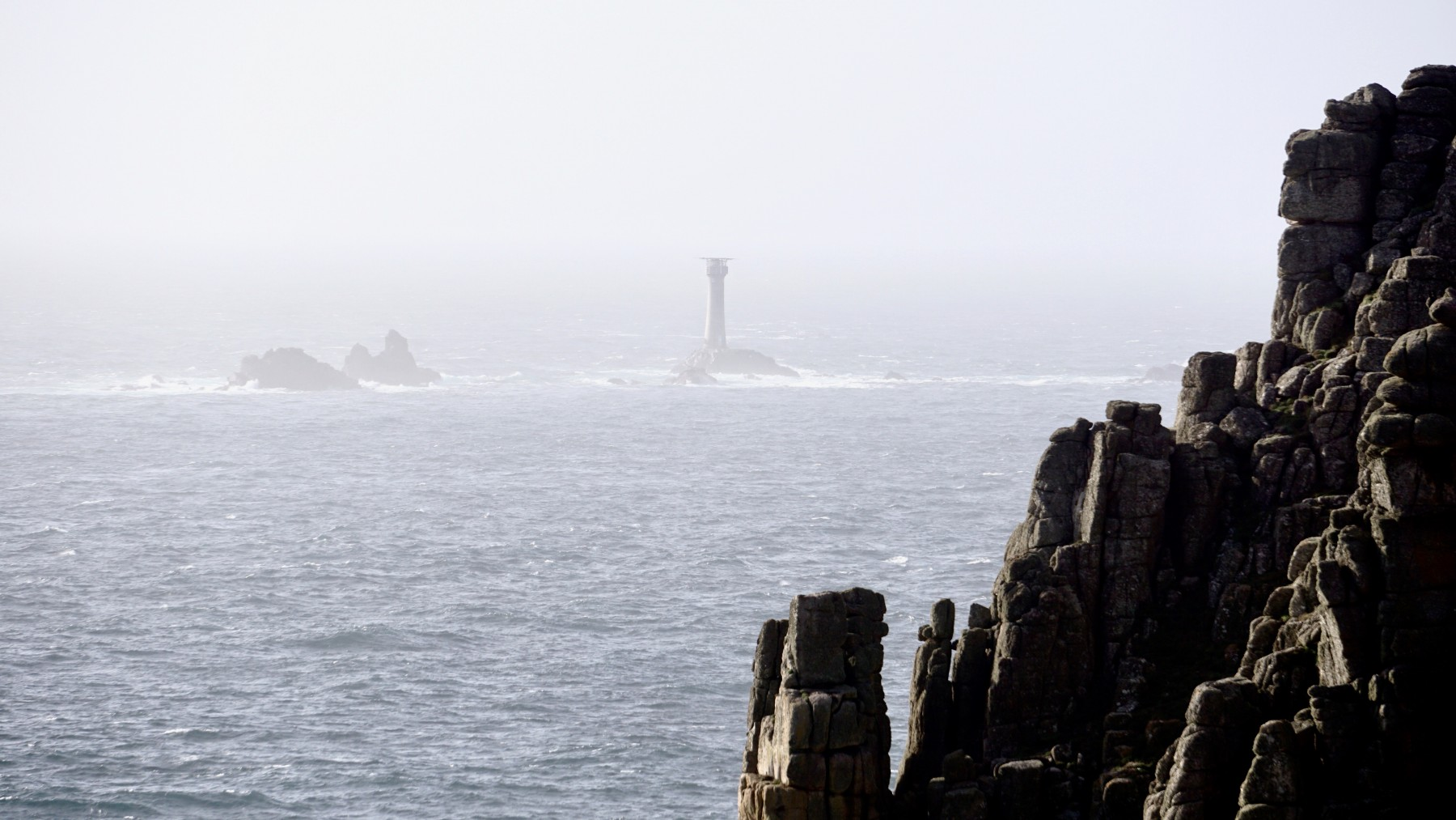 Land's End and the Longships lighthouse