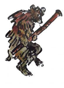 Dancing bear (artwork by Ghislaine Howard)