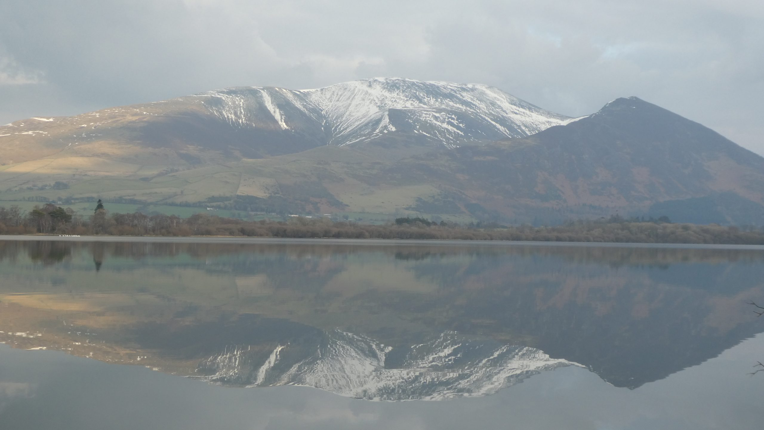 Bassenthwaite Lake and Skiddaw, in early Spring