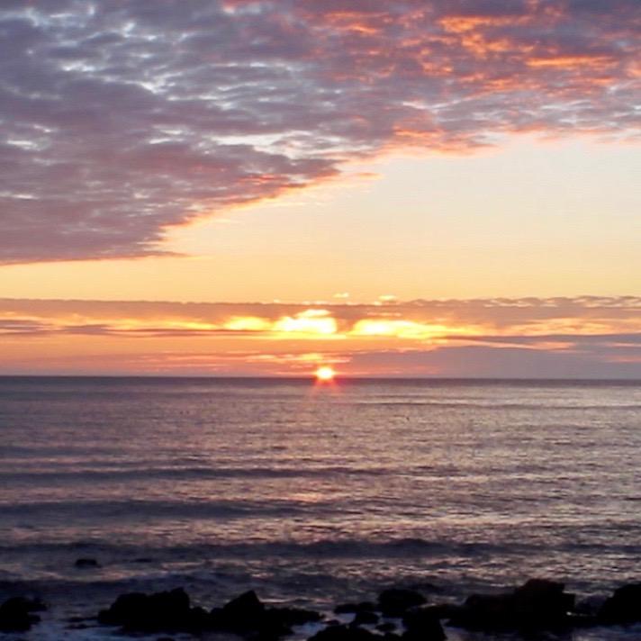 Sunrise over North Sea square