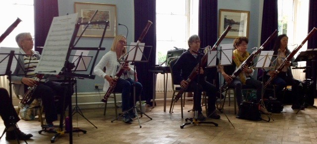 Bassoon ensembles in the Lecture Room, Higham Hall