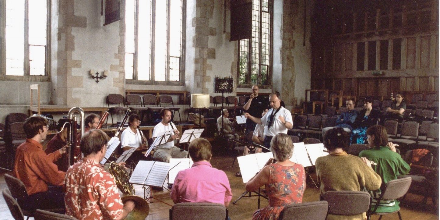 Dartington 1999 rehearsal in Great Hall